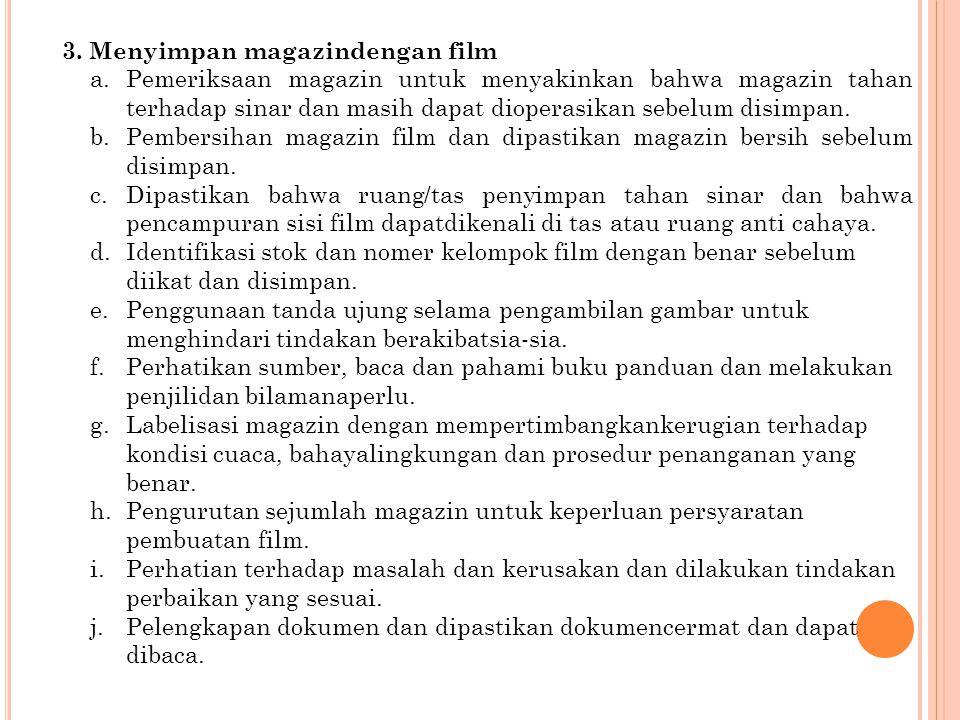 3. Menyimpan magazindengan film
