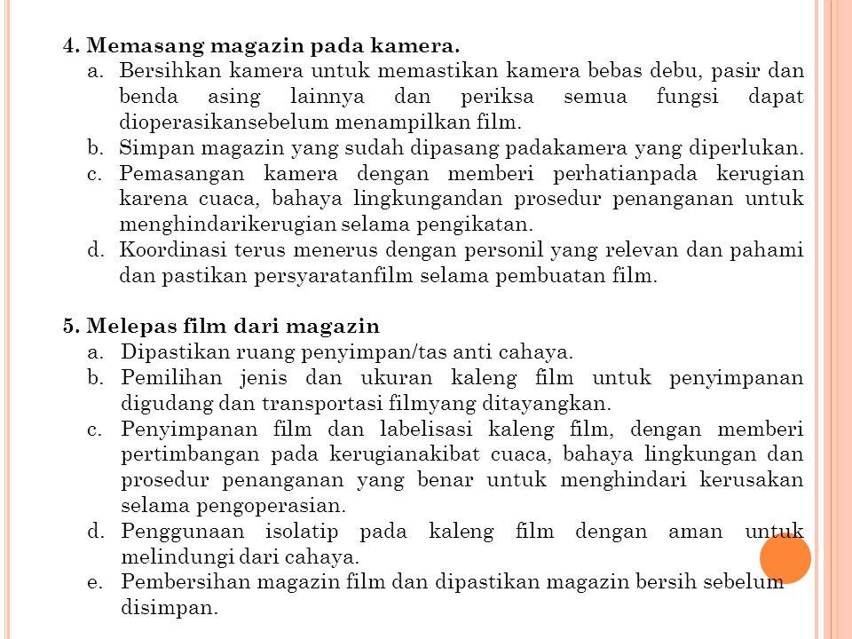 4. Memasang magazin pada kamera.