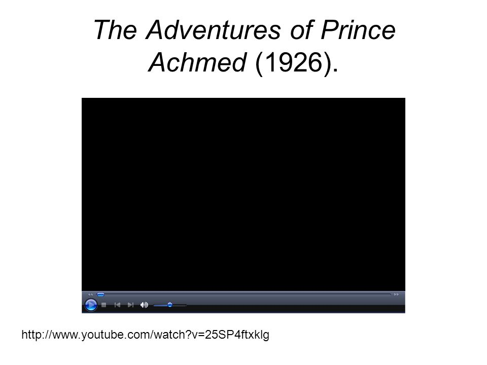 The Adventures of Prince Achmed (1926).