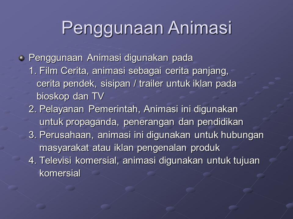 Penggunaan Animasi Penggunaan Animasi digunakan pada