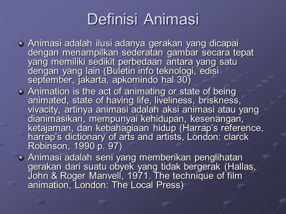 Definisi Animasi