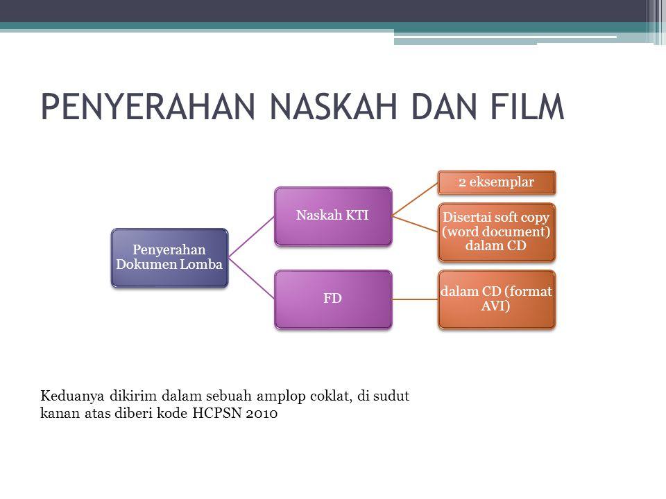 PENYERAHAN NASKAH DAN FILM