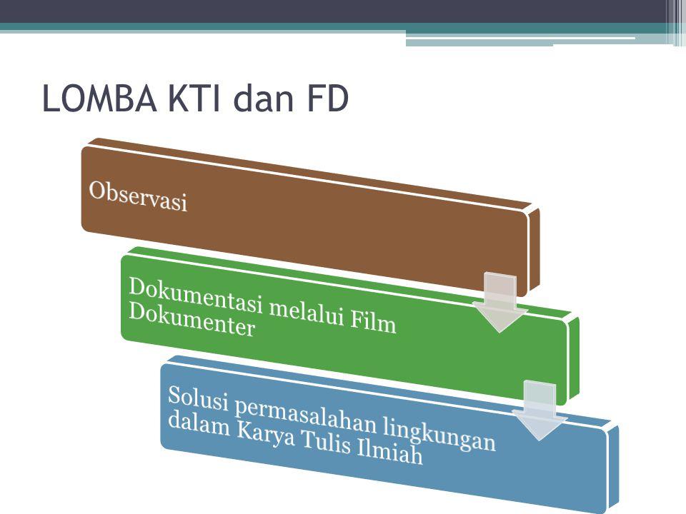 LOMBA KTI dan FD Observasi Dokumentasi melalui Film Dokumenter