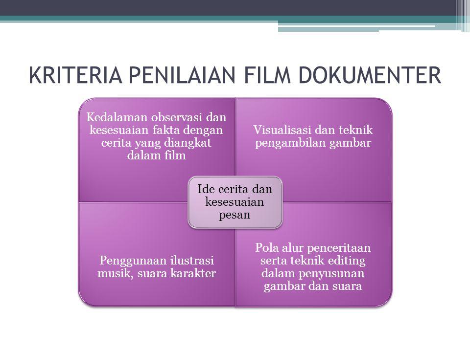 KRITERIA PENILAIAN FILM DOKUMENTER