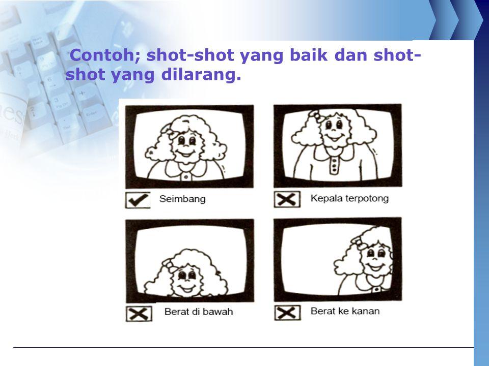 Contoh; shot-shot yang baik dan shot-shot yang dilarang.