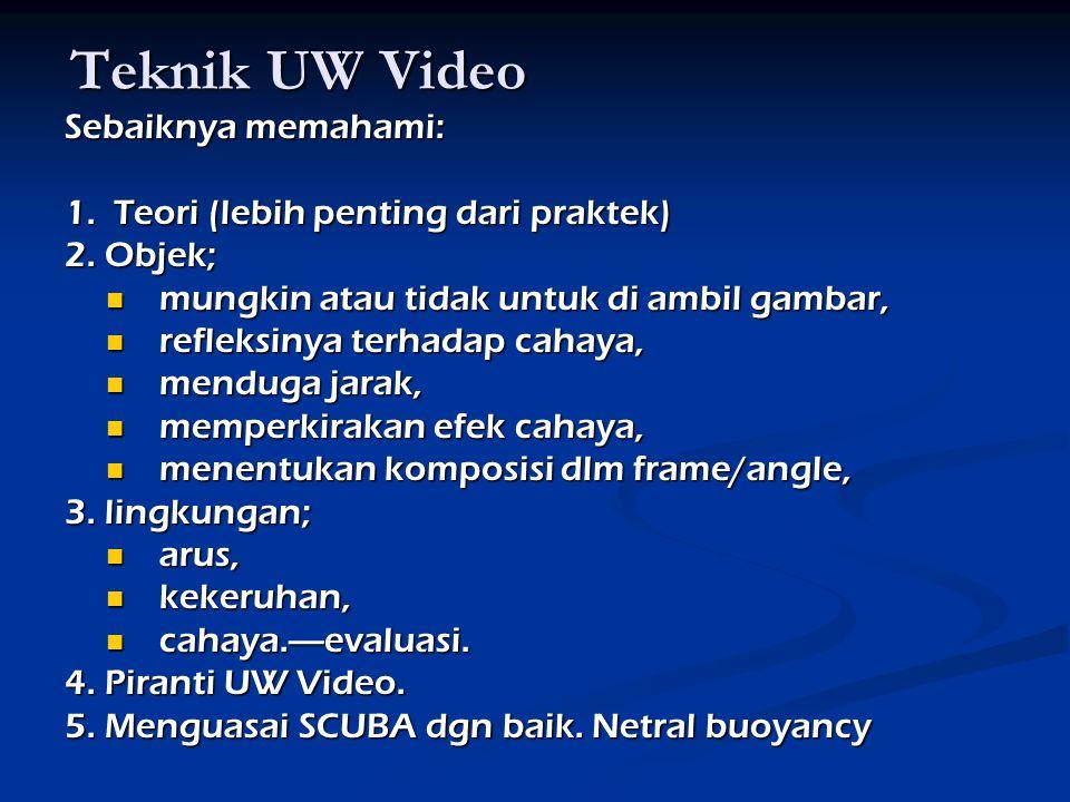 Teknik UW Video Sebaiknya memahami: