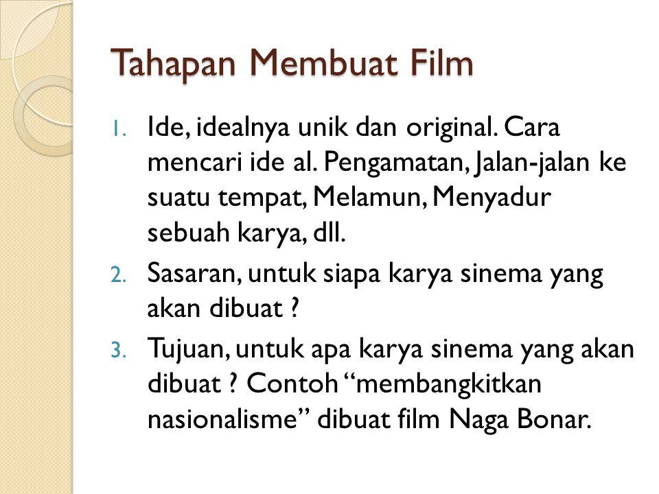 Tahapan Membuat Film