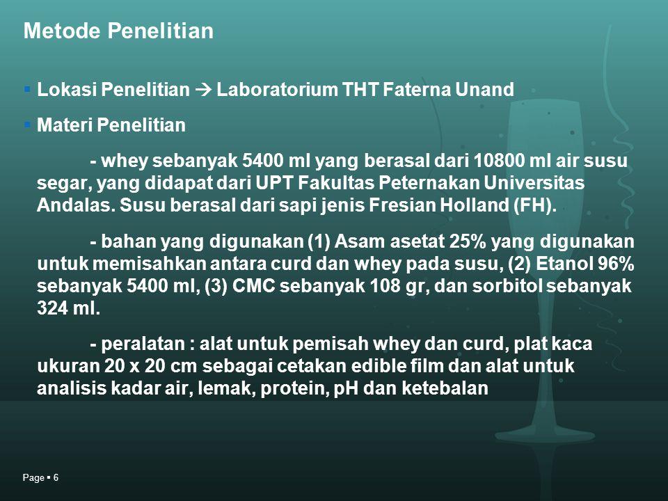 Metode Penelitian Lokasi Penelitian  Laboratorium THT Faterna Unand