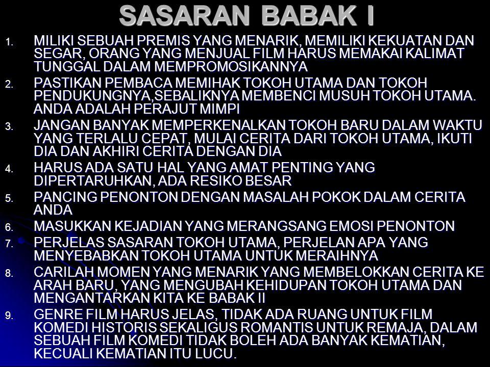 SASARAN BABAK I