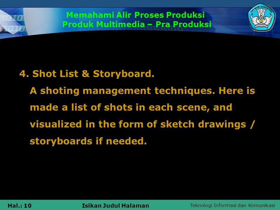 Memahami Alir Proses Produksi Produk Multimedia – Pra Produksi