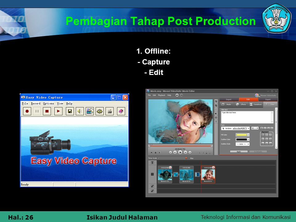 Pembagian Tahap Post Production