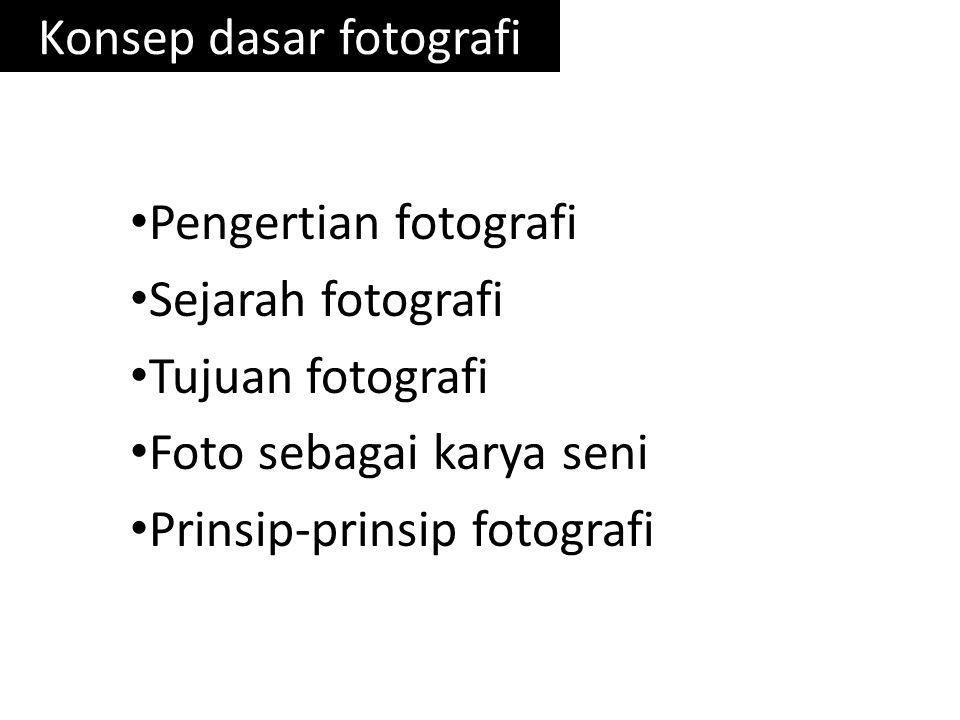 Konsep dasar fotografi