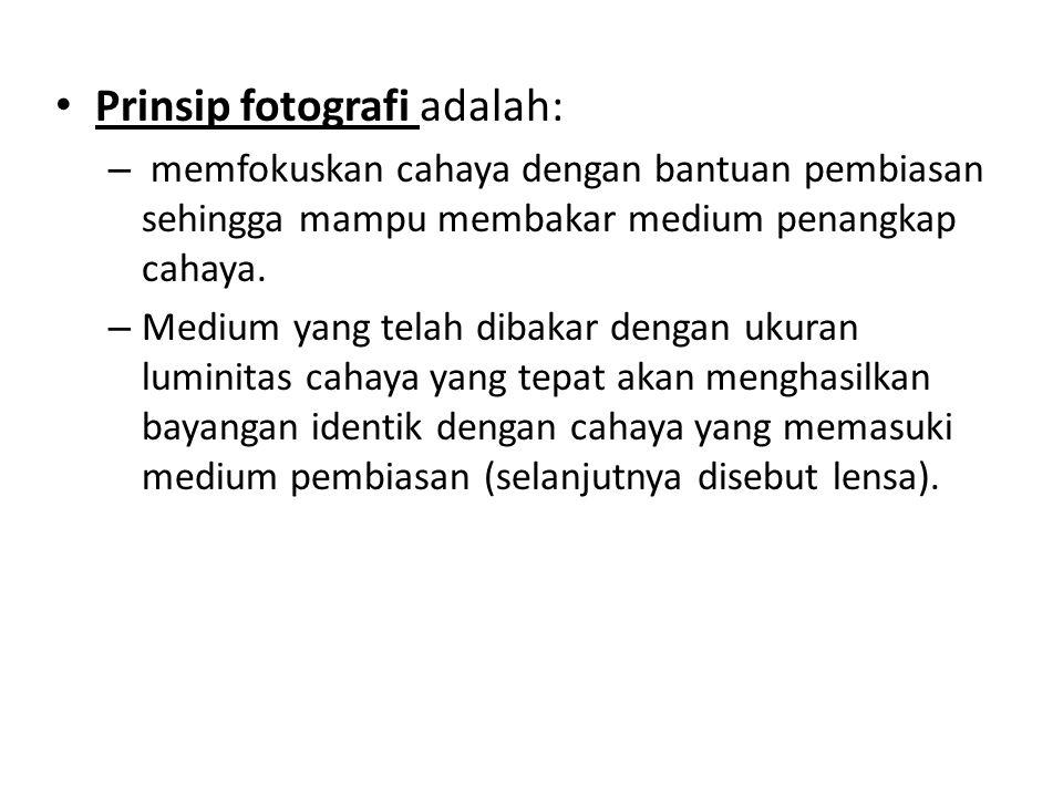 Prinsip fotografi adalah: