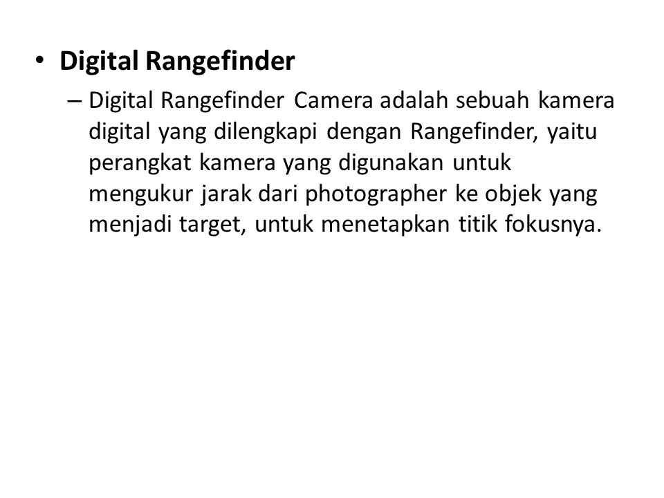 Digital Rangefinder
