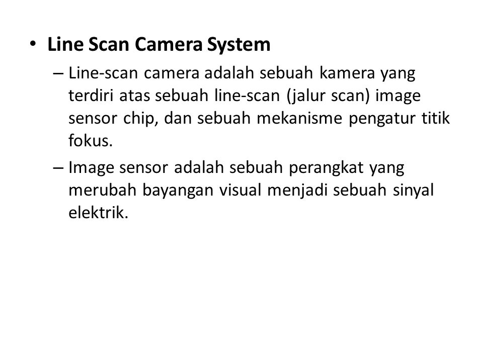 Line Scan Camera System