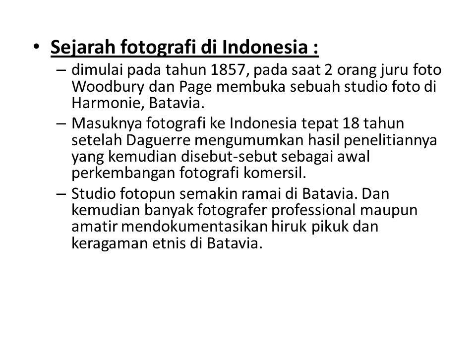 Sejarah fotografi di Indonesia :