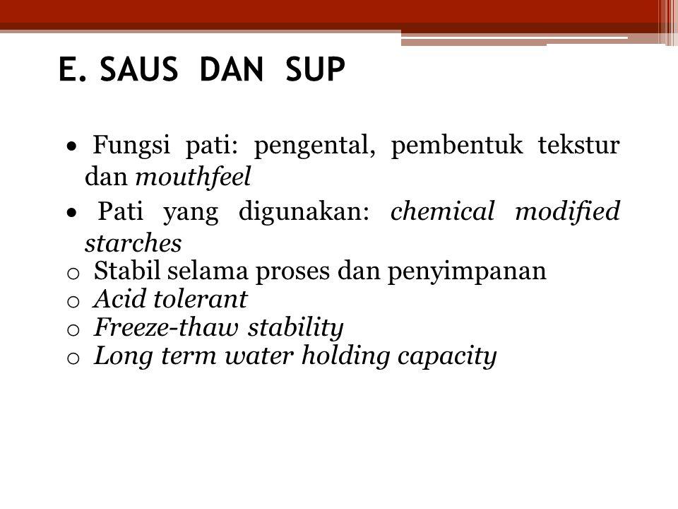 E. SAUS DAN SUP