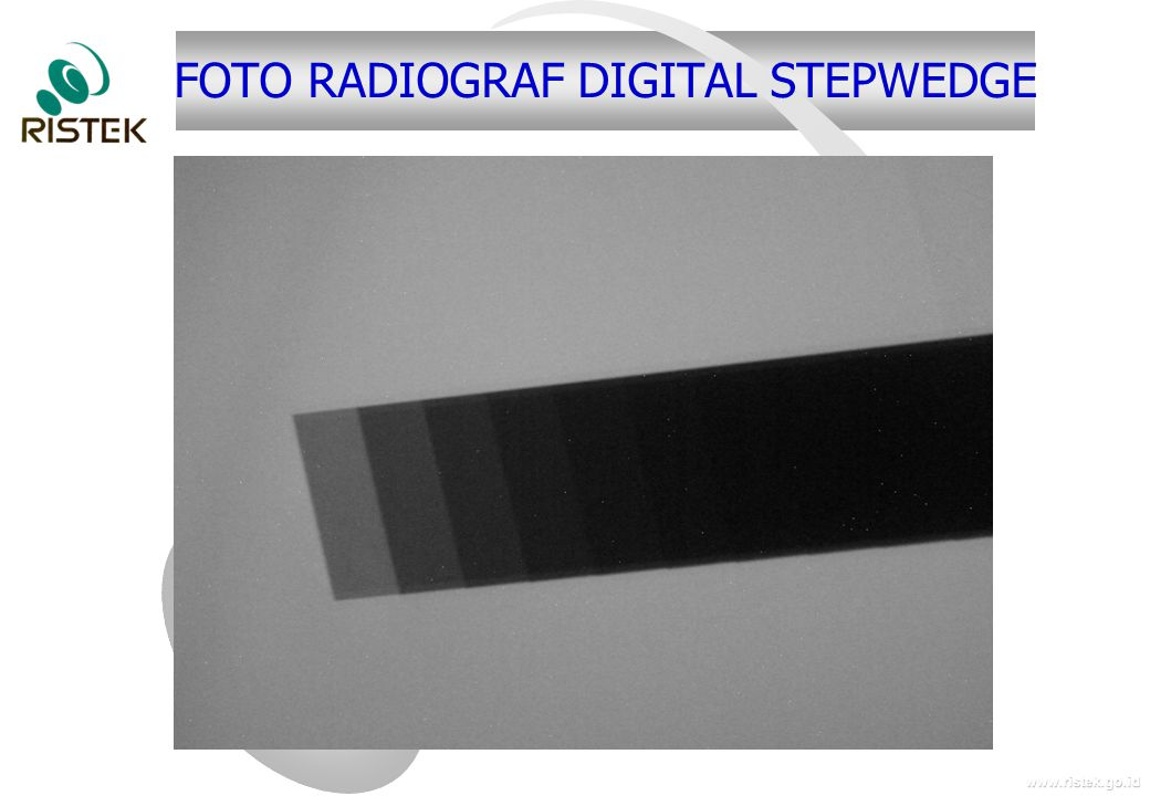 FOTO RADIOGRAF DIGITAL STEPWEDGE