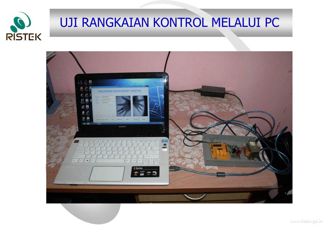 UJI RANGKAIAN KONTROL MELALUI PC