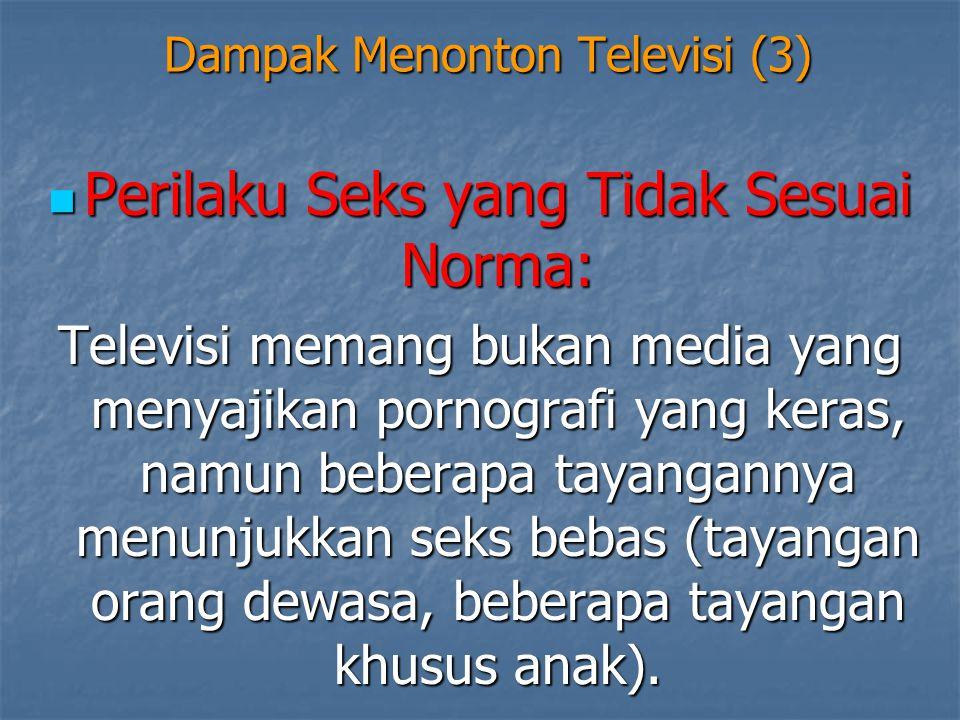 Dampak Menonton Televisi (3)