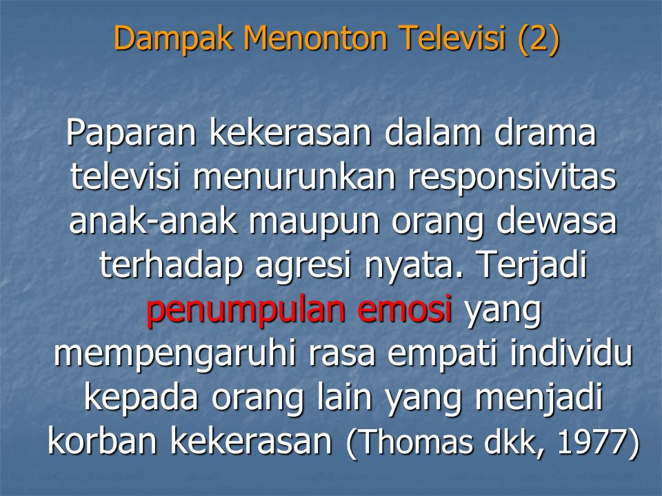 Dampak Menonton Televisi (2)