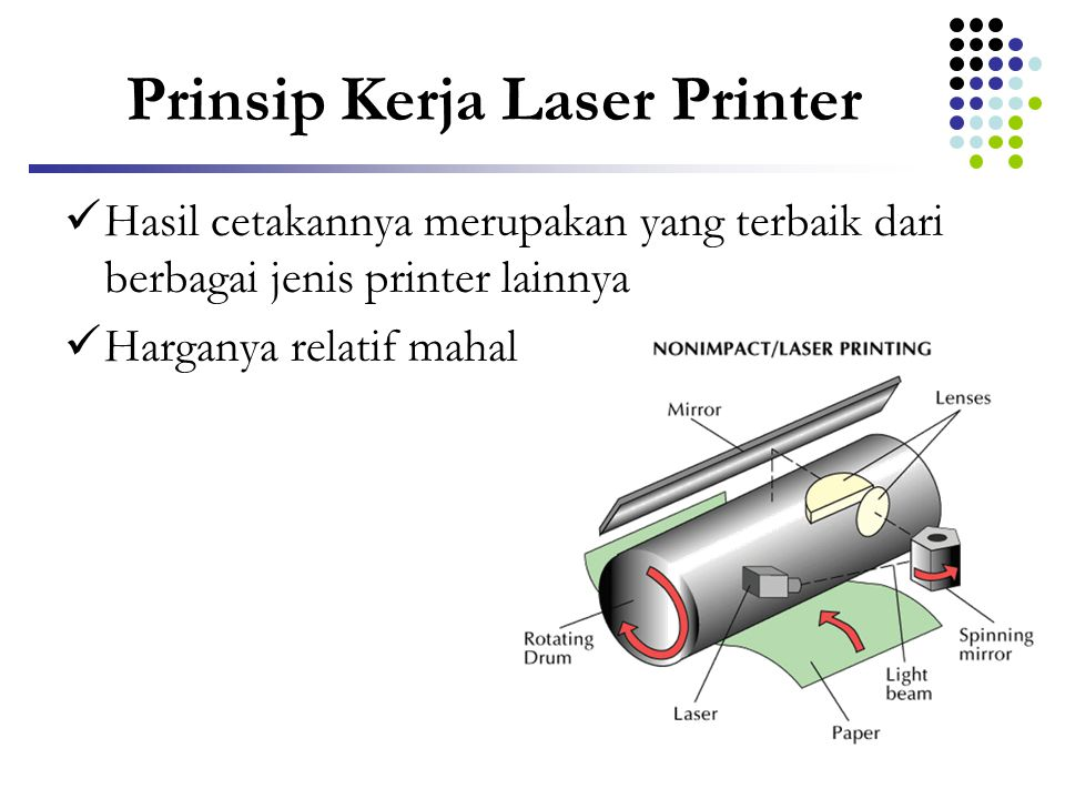 Prinsip Kerja Laser Printer