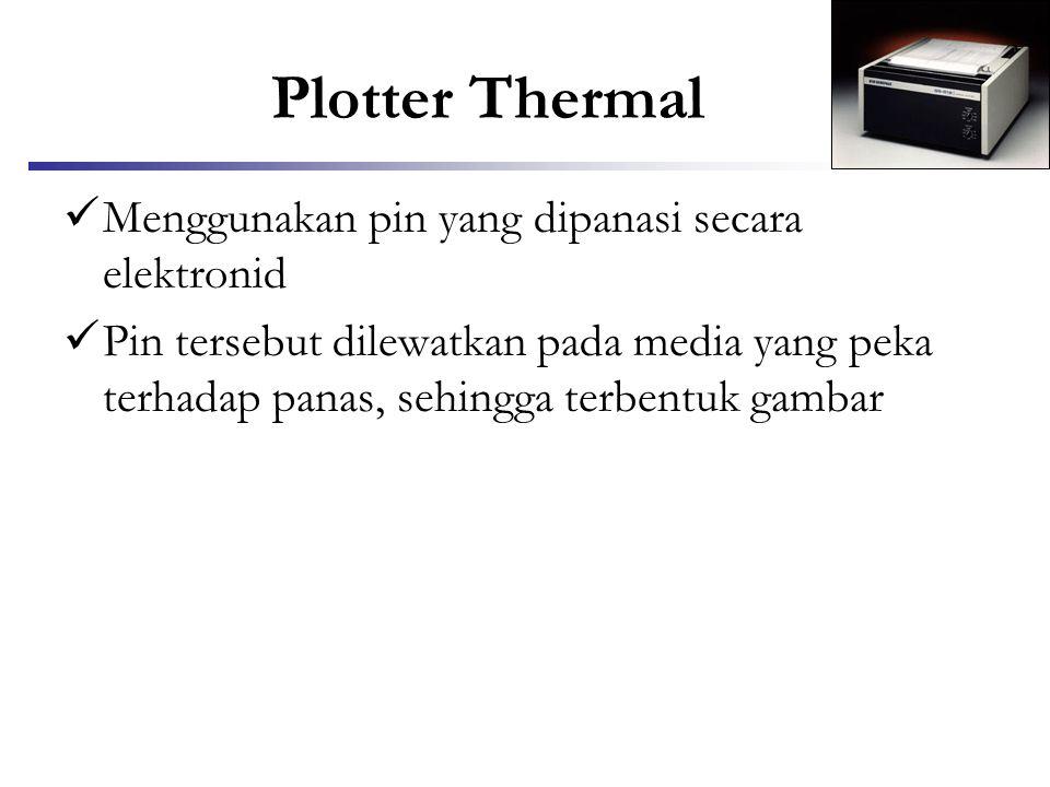 Plotter Thermal Menggunakan pin yang dipanasi secara elektronid