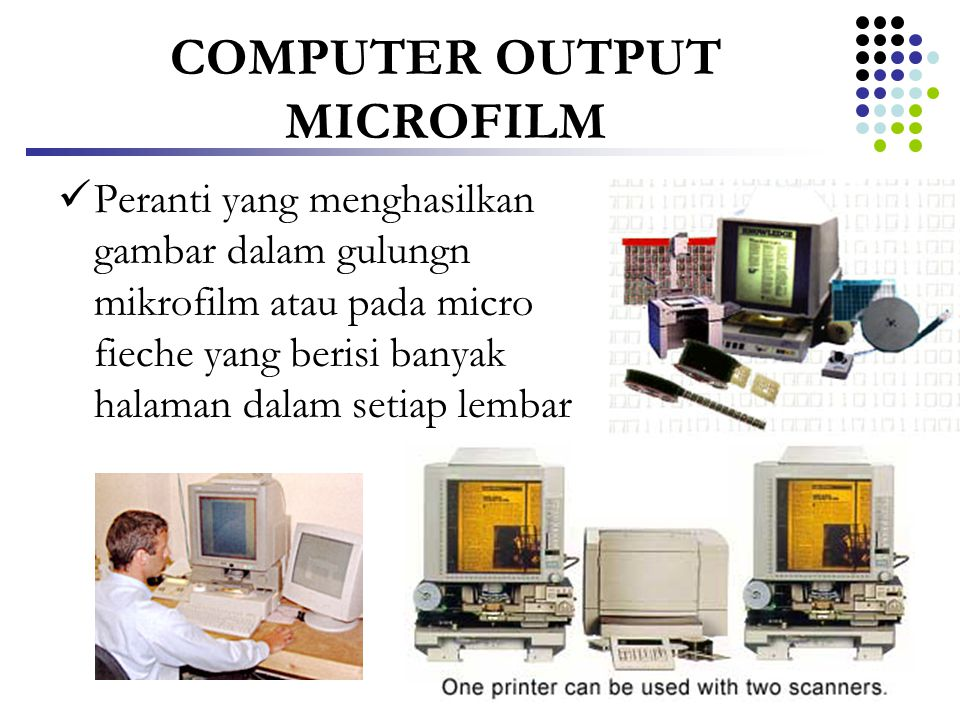 COMPUTER OUTPUT MICROFILM