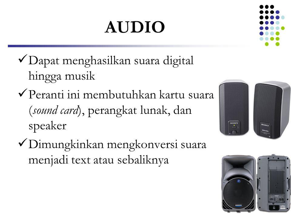 AUDIO Dapat menghasilkan suara digital hingga musik