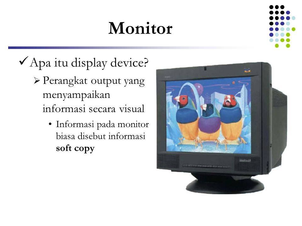 Monitor Apa itu display device