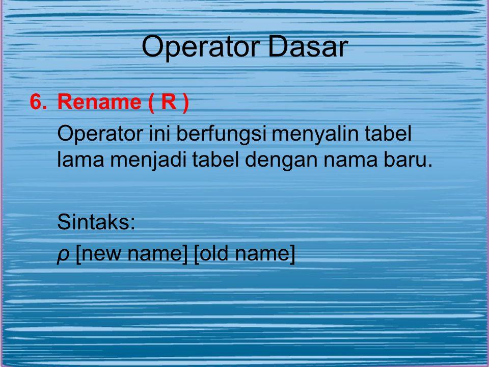 Operator Dasar Rename ( R )