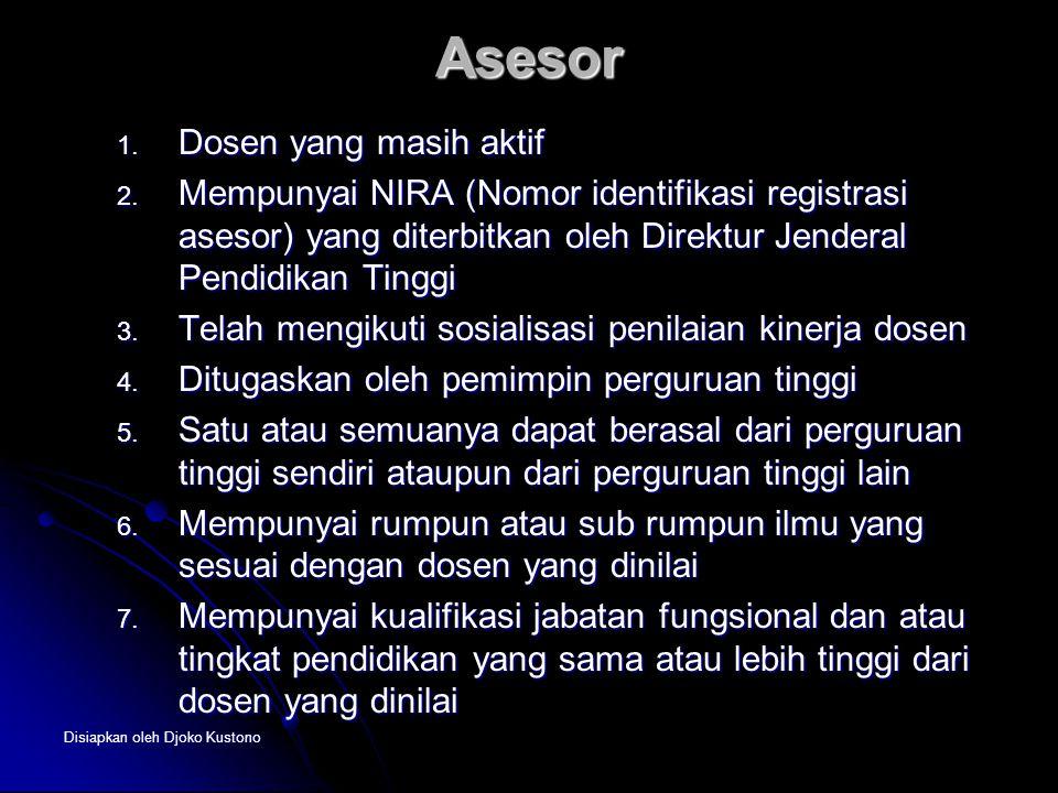 Asesor Dosen yang masih aktif