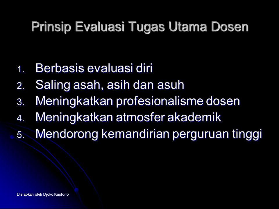 Prinsip Evaluasi Tugas Utama Dosen