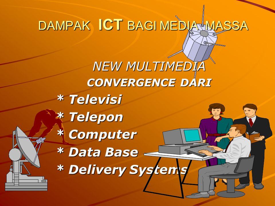 DAMPAK ICT BAGI MEDIA MASSA