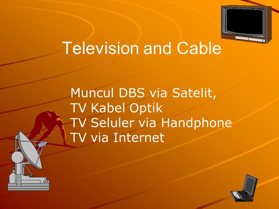 Television and Cable Muncul DBS via Satelit, TV Kabel Optik