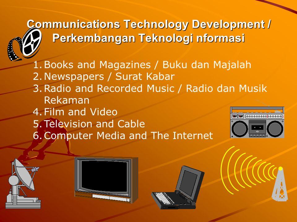 Communications Technology Development / Perkembangan Teknologi nformasi