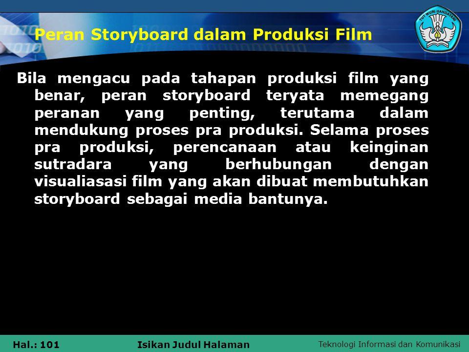 Peran Storyboard dalam Produksi Film
