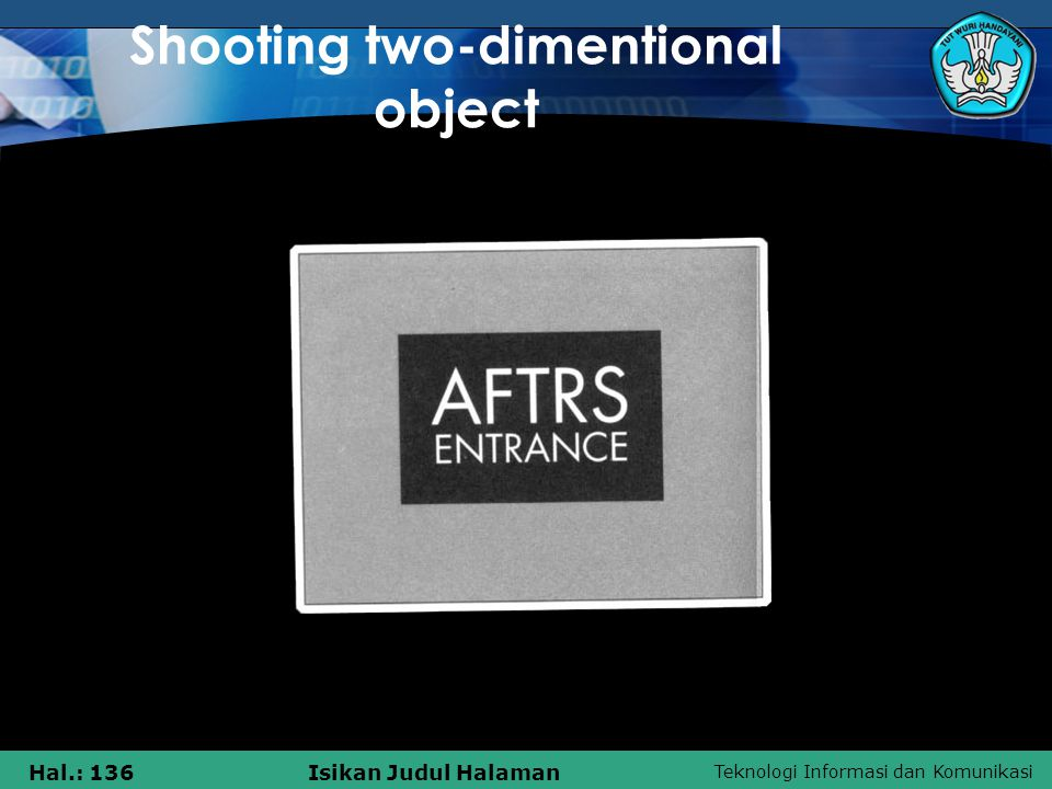 Shooting two-dimentional object