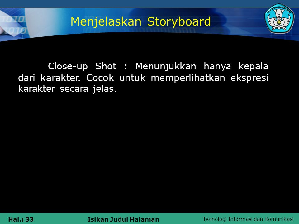 Menjelaskan Storyboard