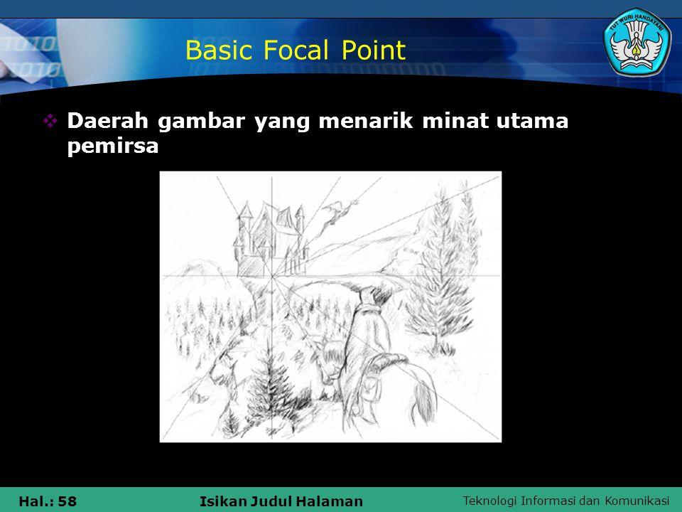 Basic Focal Point Daerah gambar yang menarik minat utama pemirsa