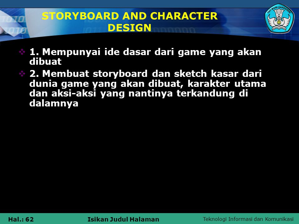 STORYBOARD AND CHARACTER DESIGN