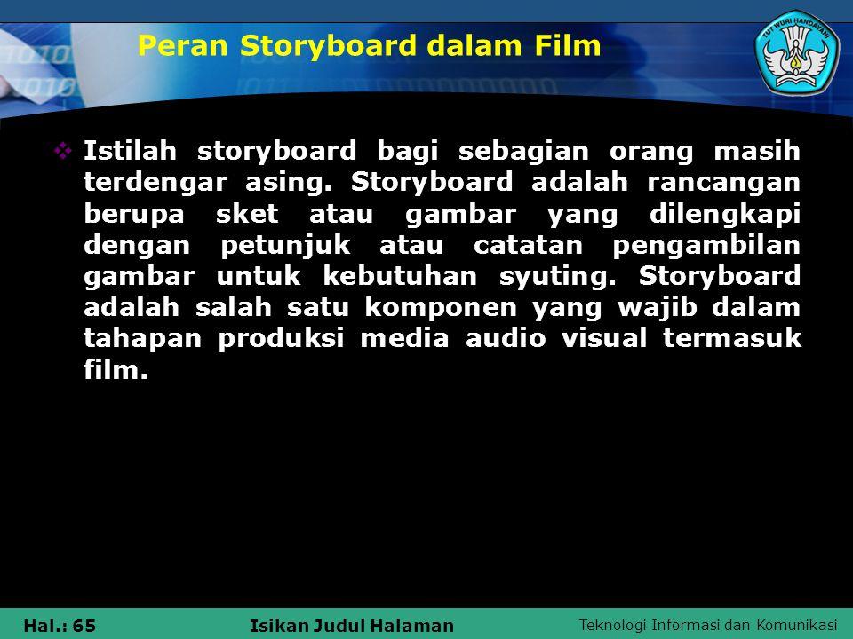 Peran Storyboard dalam Film