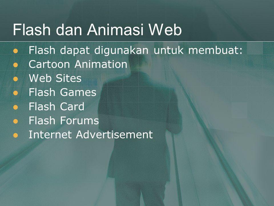 Flash dan Animasi Web Flash dapat digunakan untuk membuat: