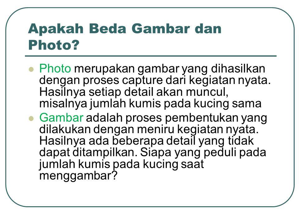 Apakah Beda Gambar dan Photo