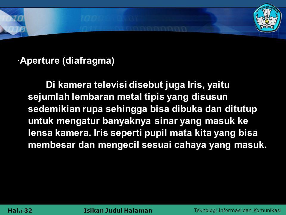·Aperture (diafragma)