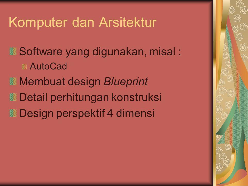 Komputer dan Arsitektur