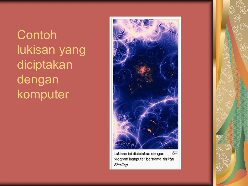 Contoh lukisan yang diciptakan dengan komputer