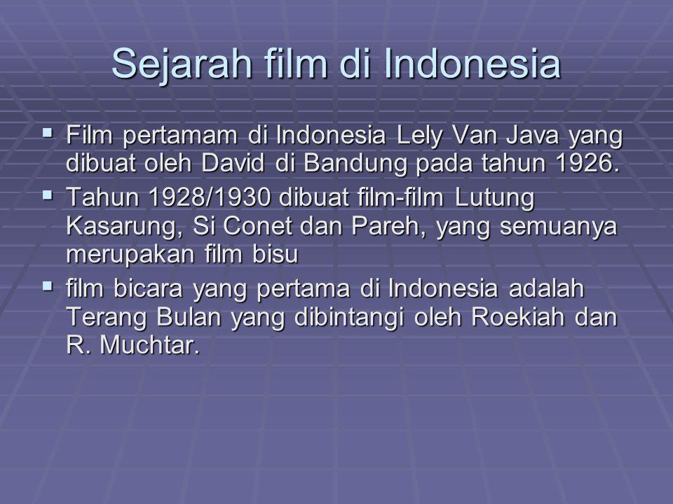 Sejarah film di Indonesia