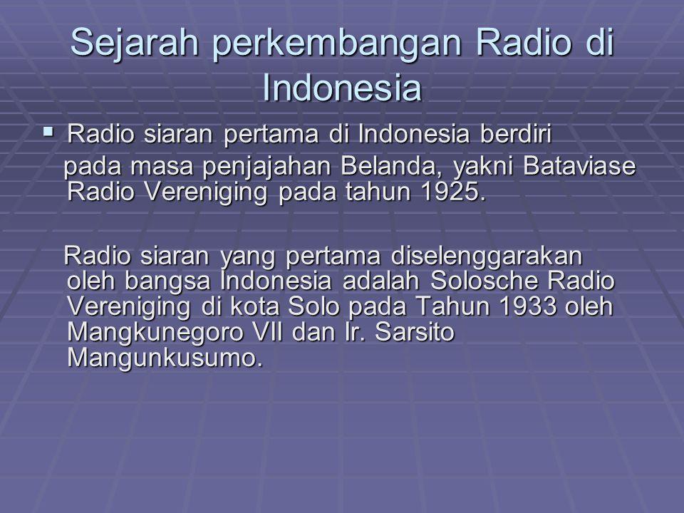 Sejarah perkembangan Radio di Indonesia