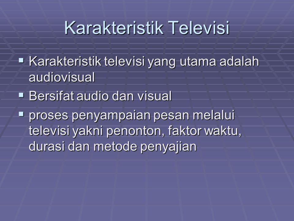 Karakteristik Televisi